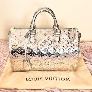 Auth Louis Vuitton Miroir Mirror Silver Speedy 30